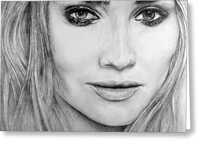 Kaelin Drawings Greeting Cards - Diane Kruger Greeting Card by Roy Kaelin
