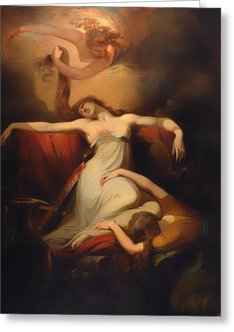 Despair Greeting Cards - Dido Greeting Card by Henry Fuseli
