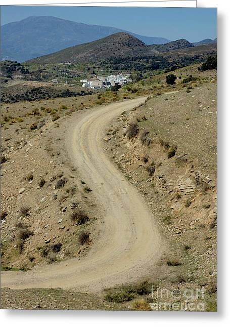 Dirt Road Winding Greeting Card by Sami Sarkis