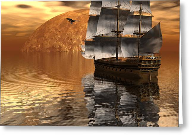 Distant Voyage 2 Greeting Card by Claude McCoy