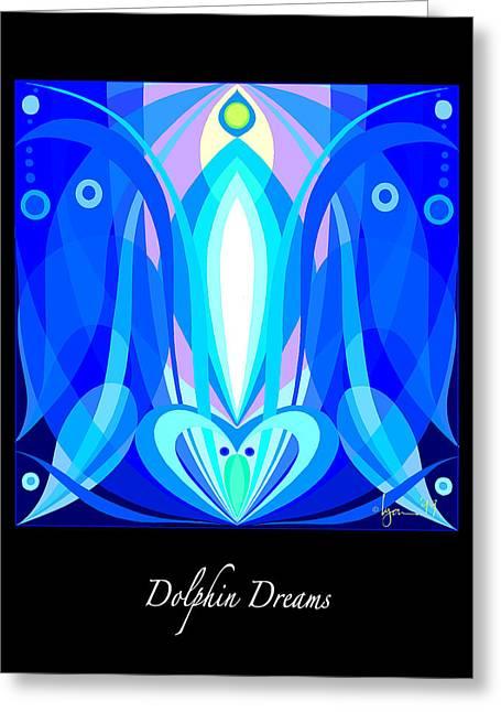 Survivor Art Greeting Cards - Dolphin Dreams Greeting Card by Angela Treat Lyon
