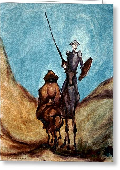 Don Quixote Greeting Cards - Don Quixote  Greeting Card by Kevin Middleton