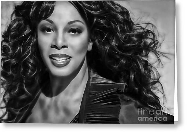 Pop Mixed Media Greeting Cards - Donna Summer Collection Greeting Card by Marvin Blaine