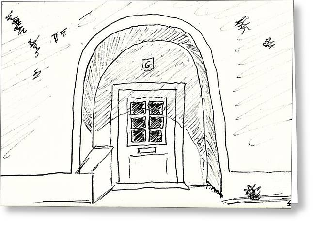 Door In Elvas Greeting Card by Chani Demuijlder