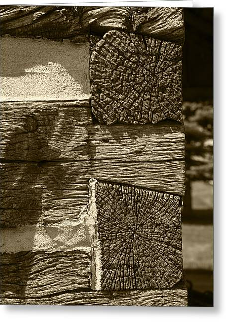 Cabin Corner Greeting Cards - Dovetail Log Structure Greeting Card by Donald  Erickson