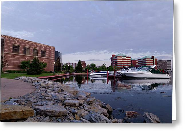 Downtown Neenah Greeting Card by Joel Witmeyer