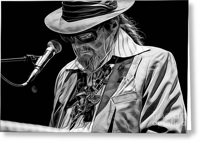 Celebrity Greeting Cards - Dr. John Collection Greeting Card by Marvin Blaine