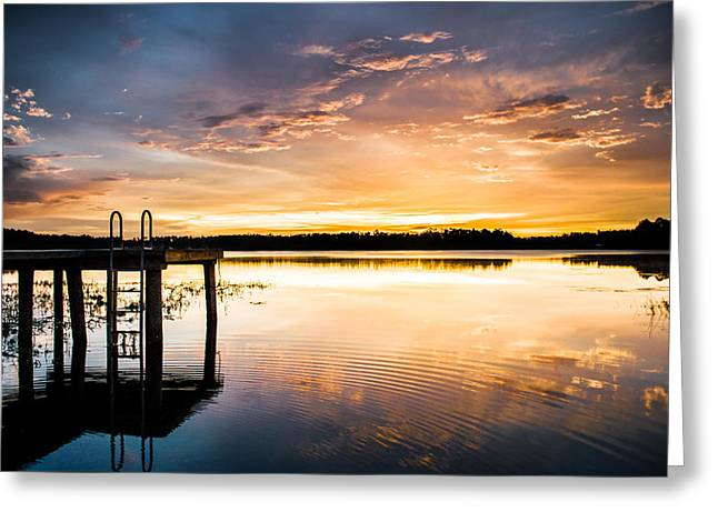 Lake House Greeting Cards - Dramatic Sunset Greeting Card by Parker Cunningham