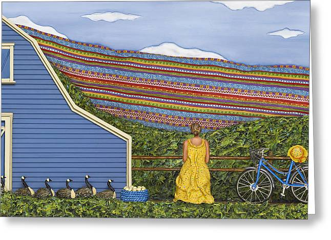 Dream Cycle Greeting Card by Anne Klar