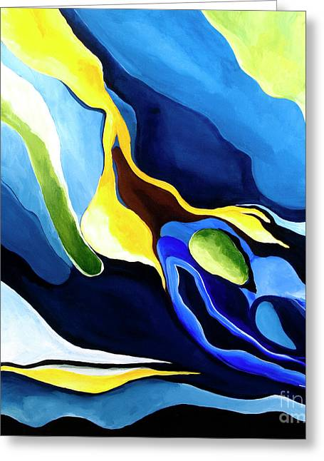 Mccoy Paintings Greeting Cards - Dreams In Blue Greeting Card by Nickola McCoy-Snell
