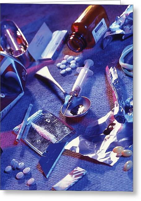 Recently Sold -  - Medication Greeting Cards - Drug Abuse Greeting Card by Tek Image