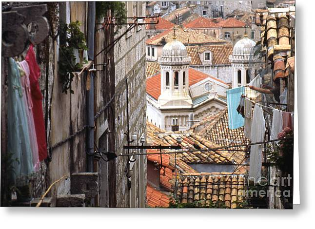 Yugoslavian Greeting Cards - Dubrovnik Croatia Greeting Card by Erik Falkensteen