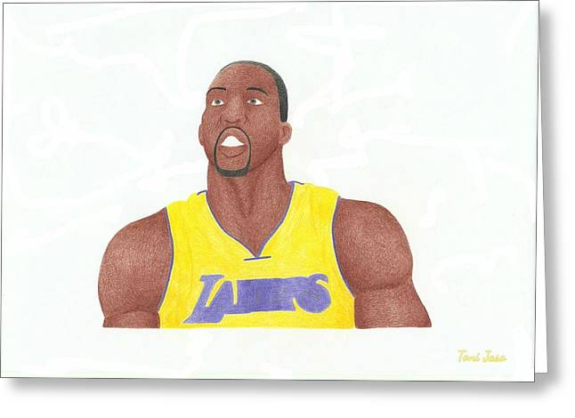 Artest Houston Rockets Greeting Cards - Dwight Howard Greeting Card by Toni Jaso