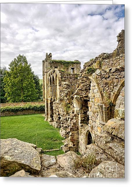 Easby Abbey Greeting Card by Stephen Smith