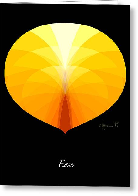 Survivor Art Greeting Cards - Ease Greeting Card by Angela Treat Lyon