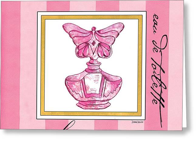 Eau De Toilette Greeting Card by Debbie DeWitt