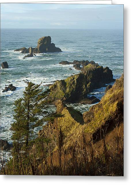 Ecola Point  Greeting Card by Storm Smith