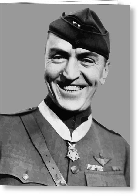 Eddie Greeting Cards - Eddie Rickenbacker  Greeting Card by War Is Hell Store