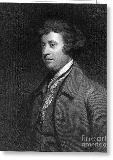 Orator Greeting Cards - Edmund Burke, Irish Politician Greeting Card by Middle Temple Library