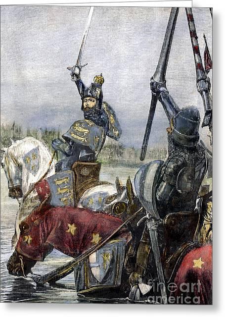 Edward IIi, 1346 Greeting Card by Granger