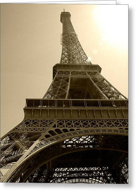 Starving Artist Greeting Cards - Eiffel Tower Under The Spotlight Greeting Card by Kamil Swiatek