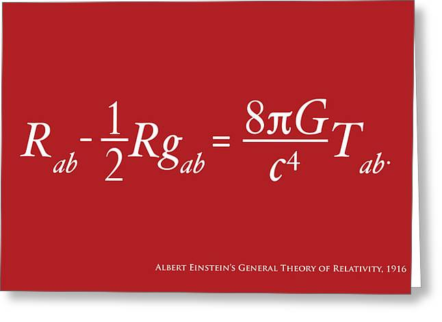 Energy Greeting Cards - Einstein Theory of Relativity Greeting Card by Michael Tompsett