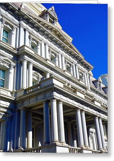 Eisenhower Greeting Cards - Eisenhower Executive Office Building Greeting Card by Valentino Visentini