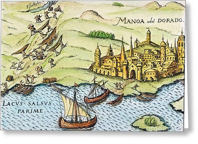 Imaginary City Greeting Cards - El Dorado, 1599 Greeting Card by Granger