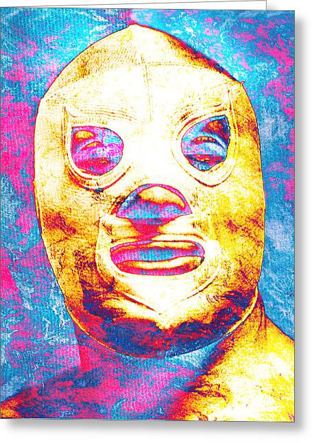 Unique Art Greeting Cards - El Santo  Greeting Card by Jose Espinoza