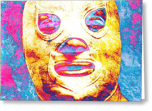 EL SANTO  Greeting Card by JOSE ESPINOZA