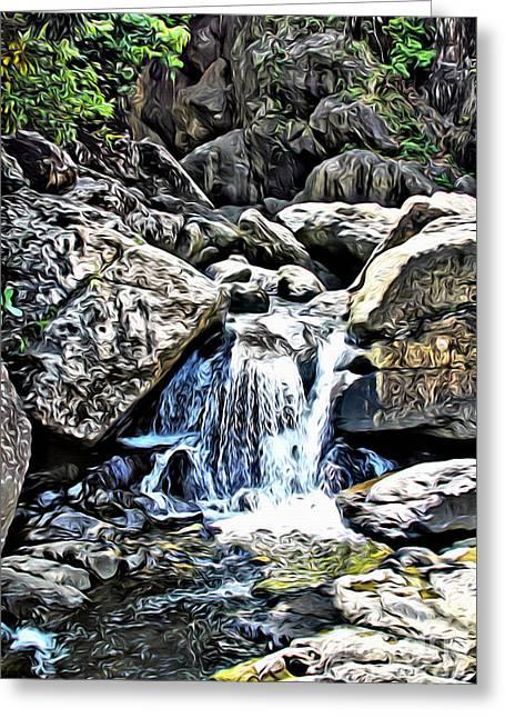 El Yunque Stream Greeting Card by Carey Chen