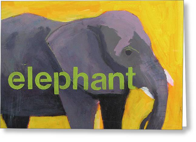 Safari Prints Greeting Cards - Elephant Greeting Card by Laurie Breen