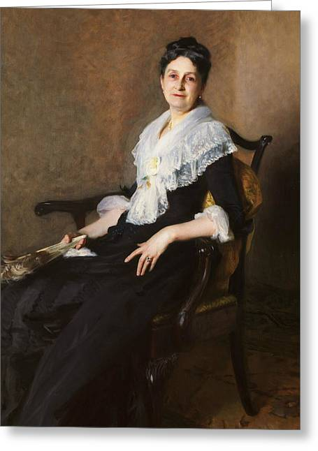 Portrait Of Woman Greeting Cards - Elizabeth Allen Marquand Greeting Card by John Singer Sargent