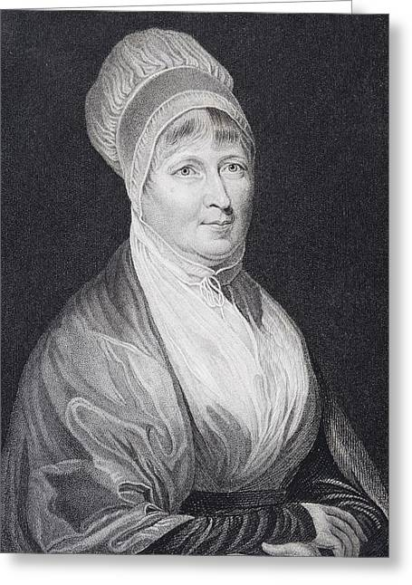 Fries Drawings Greeting Cards - Elizabeth Fry 1780 To 1845 English Greeting Card by Ken Welsh
