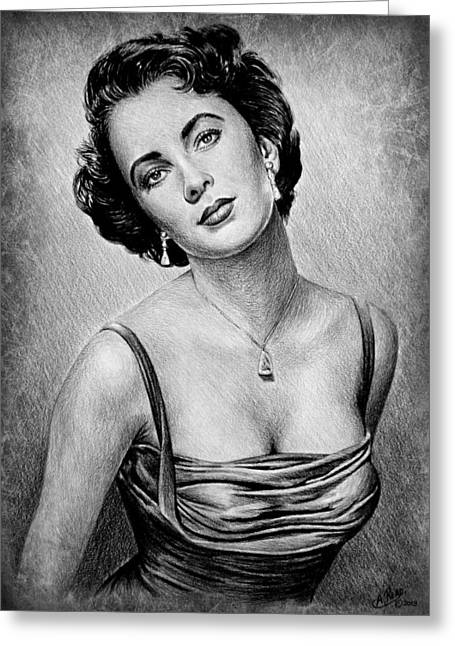 Elizabeth Taylor Greeting Card by Andrew Read