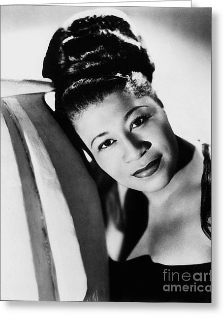 African-americans Greeting Cards - Ella Fitzgerald (1917-1996) Greeting Card by Granger