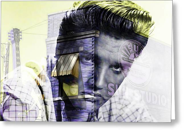 Sun Studio Greeting Cards - Elvis Presley Sun Studio Collection Greeting Card by Marvin Blaine