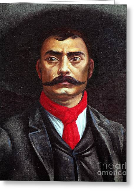 Emiliano Zapata Greeting Card by Mexican School