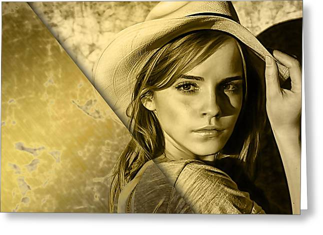 Emma Watson Collection Greeting Card by Marvin Blaine