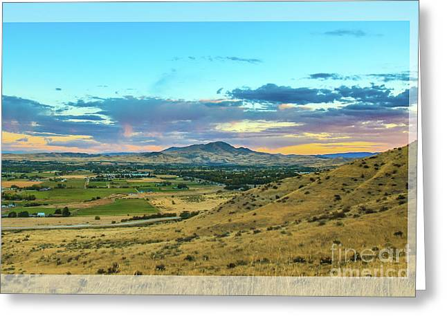 Haybales Greeting Cards - Emmett Valley Greeting Card by Robert Bales