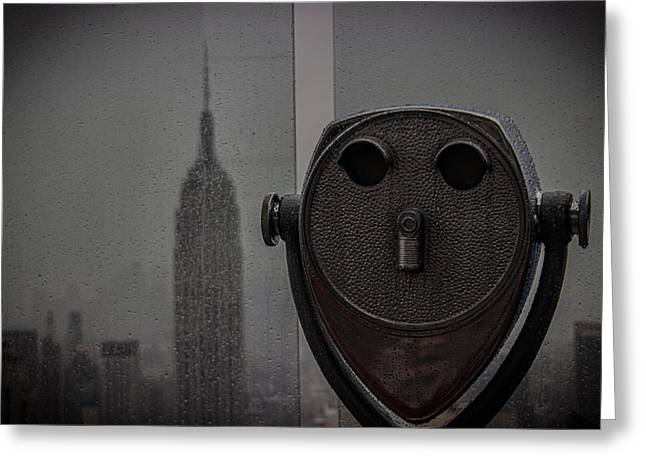 Empire State View Greeting Card by Martin Newman