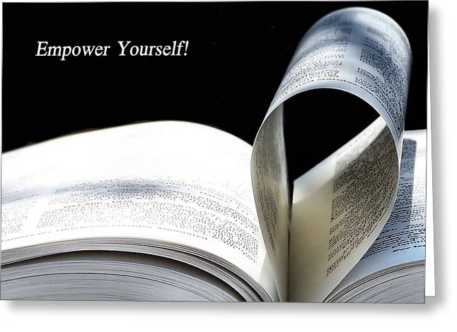 Empower Yourself Greeting Card by Karen M Scovill
