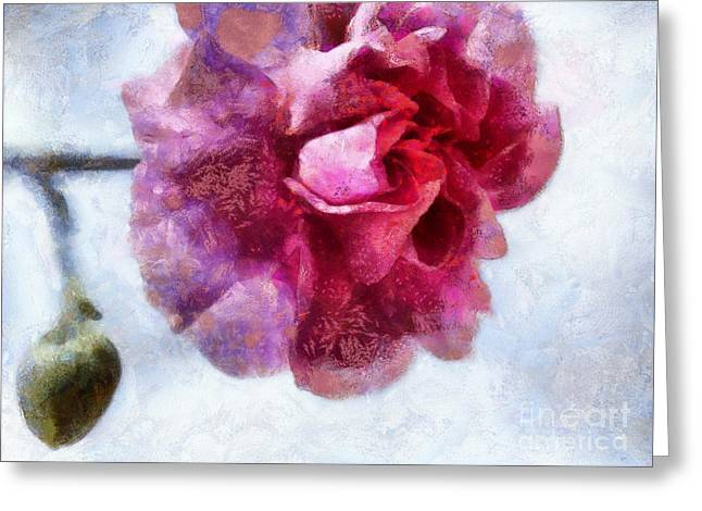 Pink Carnations Greeting Cards - Endless Love Greeting Card by Krissy Katsimbras