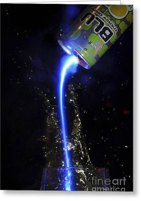Energize Photographs Greeting Cards - Energy Drink Greeting Card by PhotoStock-Israel