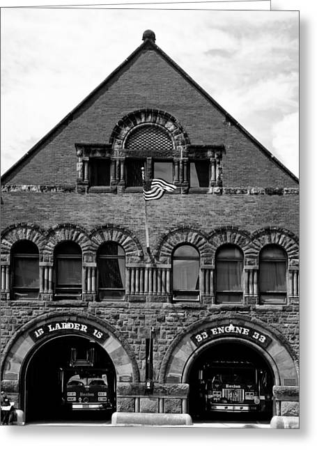 Engine House Greeting Cards - Engine 33 - Boston Greeting Card by Mountain Dreams