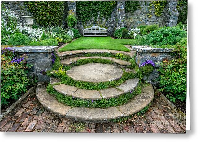 Stepping Stones Greeting Cards - English Garden Greeting Card by Adrian Evans