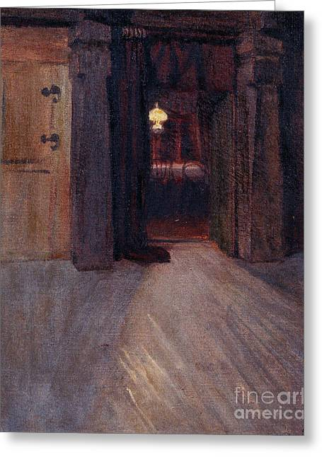 Entrance To Kalelas Dining Room Greeting Card by MotionAge Designs