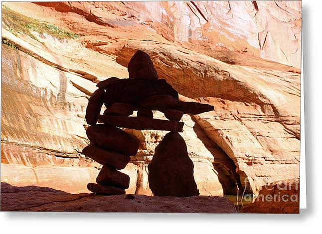 Lakes Sculptures Greeting Cards - Escalante Greeting Card by Bradley Bates