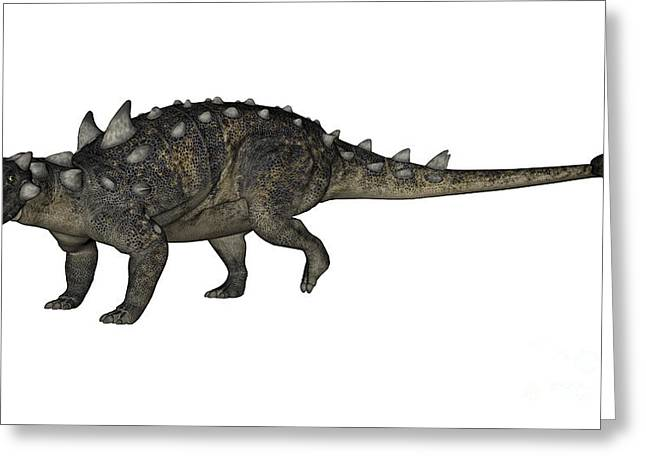 Tutu Digital Art Greeting Cards - Euoplocephalus Dinosaur Greeting Card by Elena Duvernay