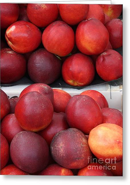 European Markets Greeting Cards - European Markets - Nectarines Greeting Card by Carol Groenen